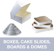 Bakery Boxes, Cake Slides, Boards and Domes